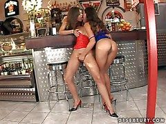 Smoking hot young beauty Zafira with penny-pinching delicious bore and