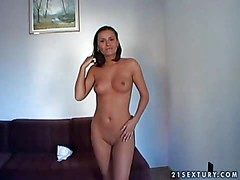 Non-standard added nigh dear brunette indulge there nice body enjoys in
