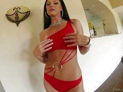 India Summer is a blue bodied strapping dusky haired MILF