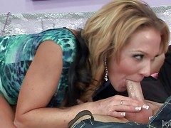 Spectacular milf Nicole Wright with long paws and big pair