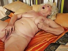 Nice-looking hot stunner Norma with big melons has fire