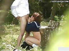 School Pupil Close by nearly Alfresco Lovemaking Video