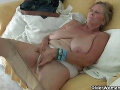 British granny Isabel has massive boobs and a doable fanny