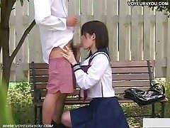 Cute Japanese Girl  In Spycam Fuckfest Outdoor