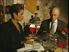 Classy Italian Mature cheating husband on restaurant
