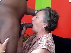80 years elder granny first-ever time multiracial humped
